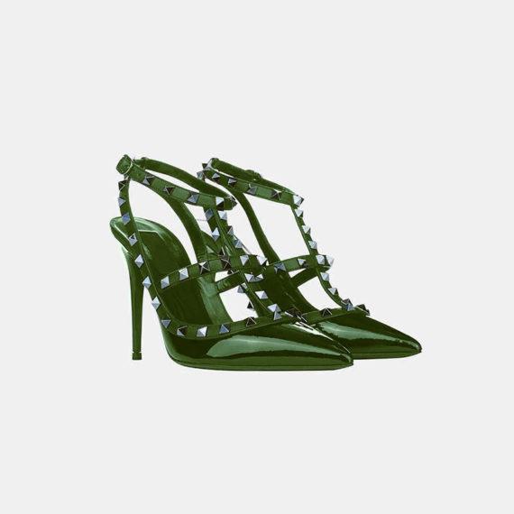 Stumped Heel Stiletto - Green