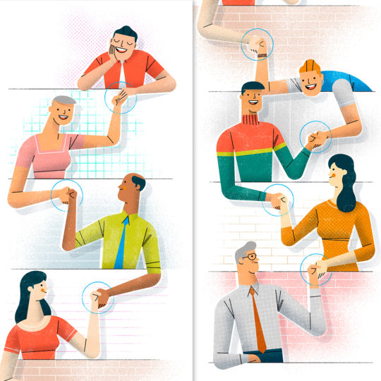 Editorial lllustration: The Values We Share