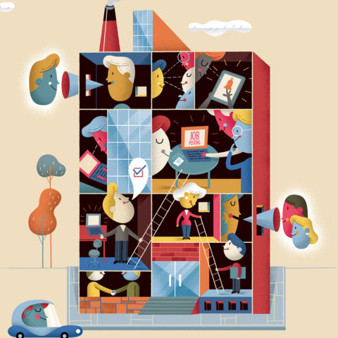 Editorial Illustration: The Year Of The Talent Management