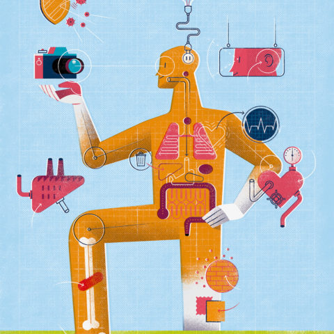 Editorial Illustration: Amazing Things The Body Can Do