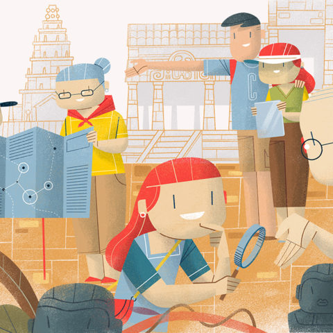 Digital Illustration: All In The Family