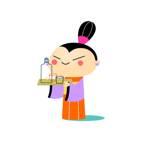 2d Animation: Cute Japanese Girl