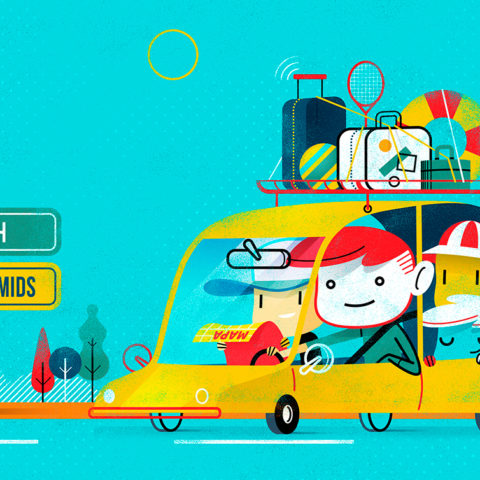 Spot Illustration: Traveling Safety!